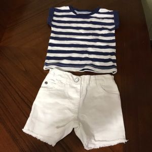 Girls Carter's Summer Outfit Size 9m